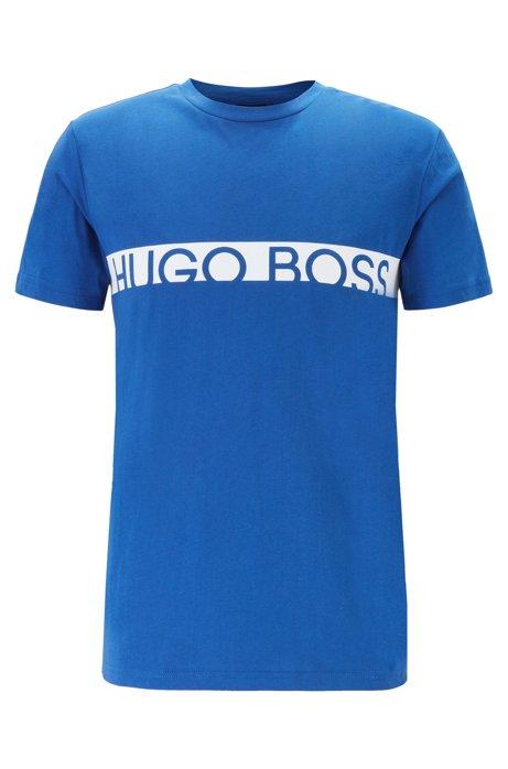 Slim-fit logo T-shirt with UPF50+ finishing, Blue