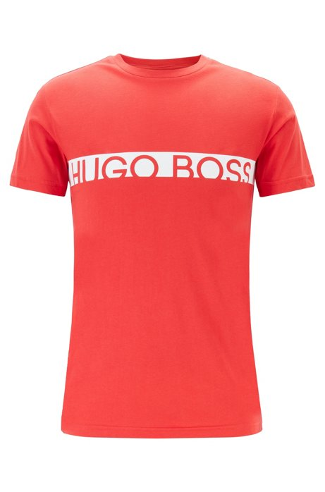Slim-fit logo T-shirt with UPF50+ finishing, Red
