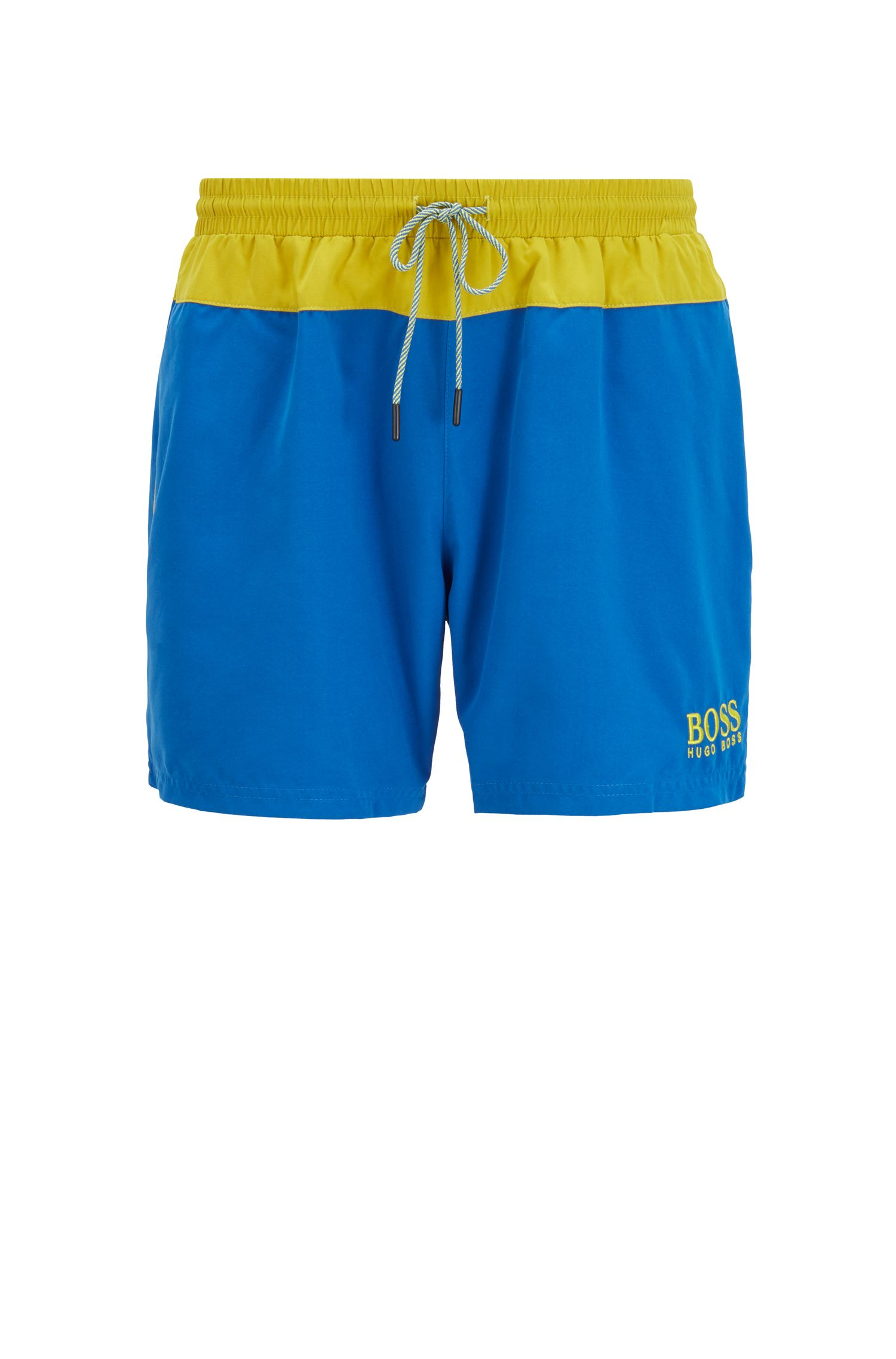 Strandset met handdoek, rugtas en zwemshort, Lichtblauw