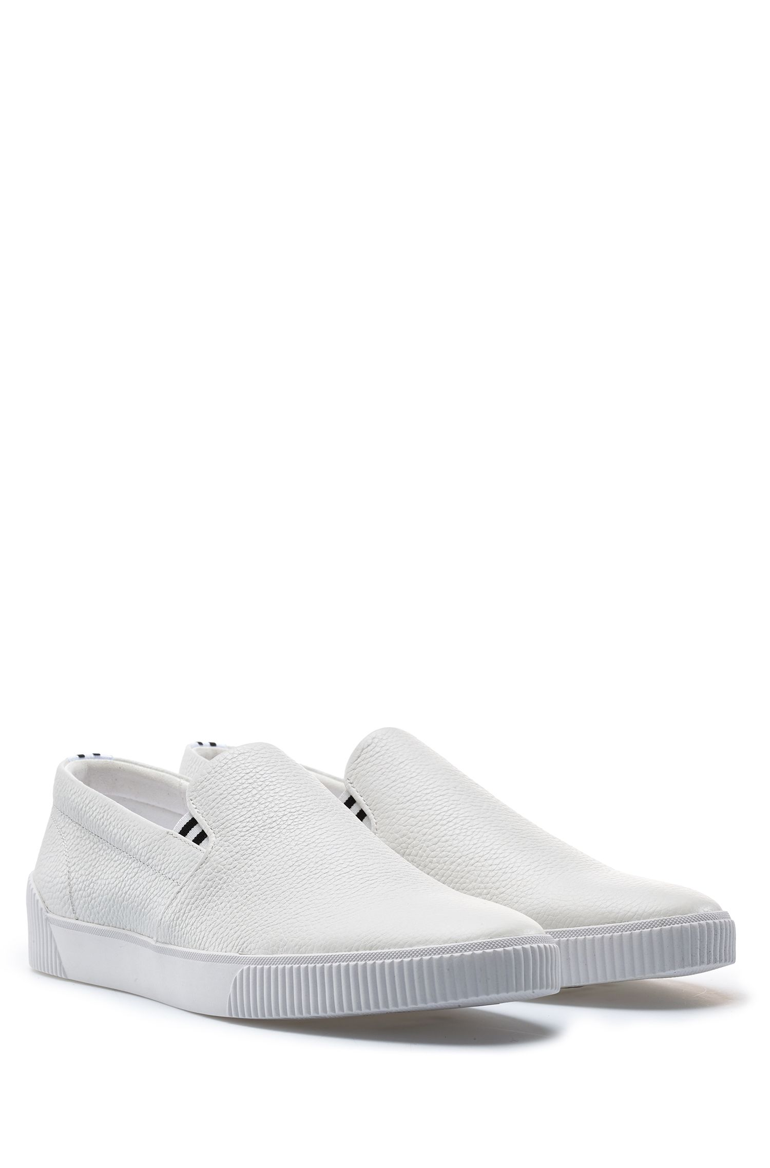 Hugo Boss - Slip-on trainers with grainy calf-leather uppers - 2