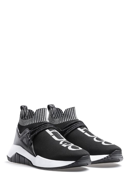 Hugo Boss - Reflective-logo trainers with knitted sock - 2
