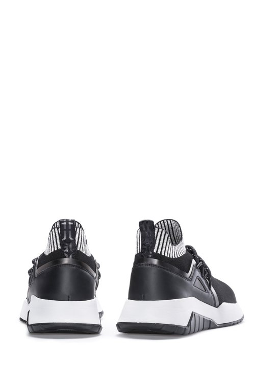 Hugo Boss - Reflective-logo trainers with knitted sock - 5