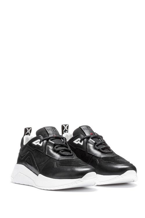 Hugo Boss - Robuste Sneakers aus Leder und Material-Mix mit Logo-Schlaufe - 2