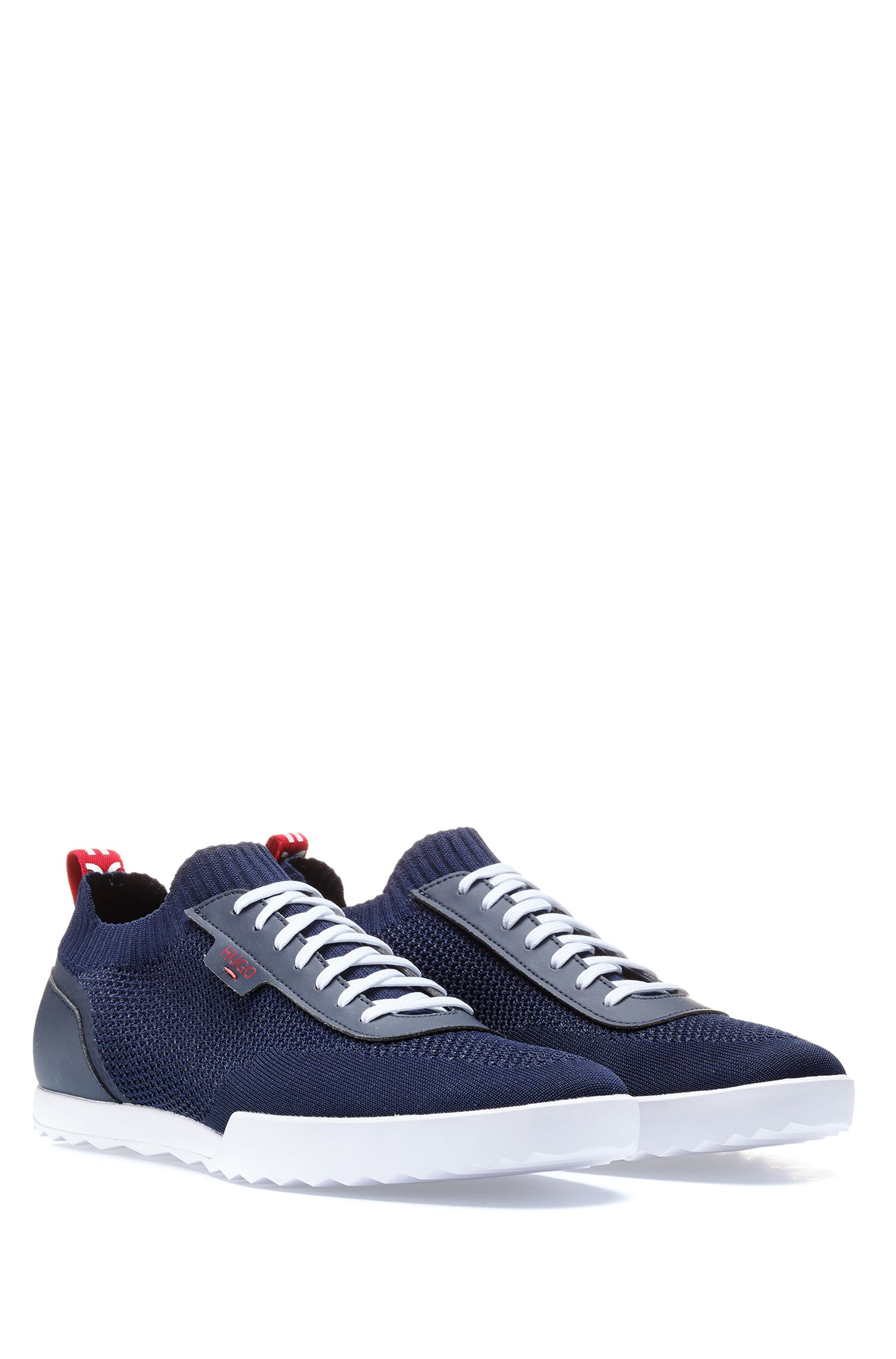 Hugo Boss - Low-profile trainers with laces and knitted sock - 2
