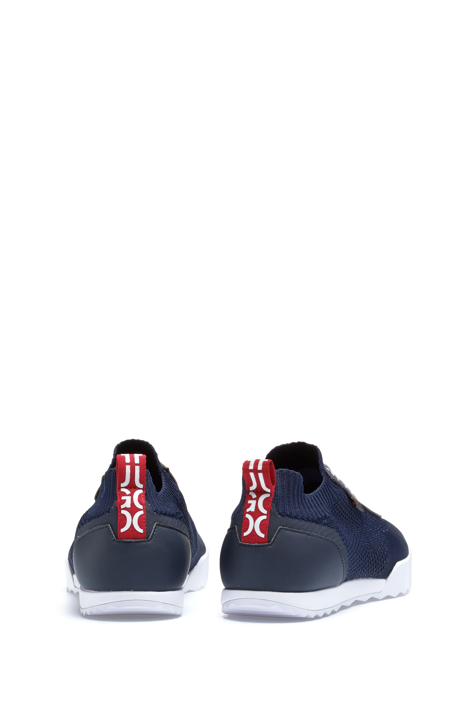 Hugo Boss - Low-profile trainers with laces and knitted sock - 5