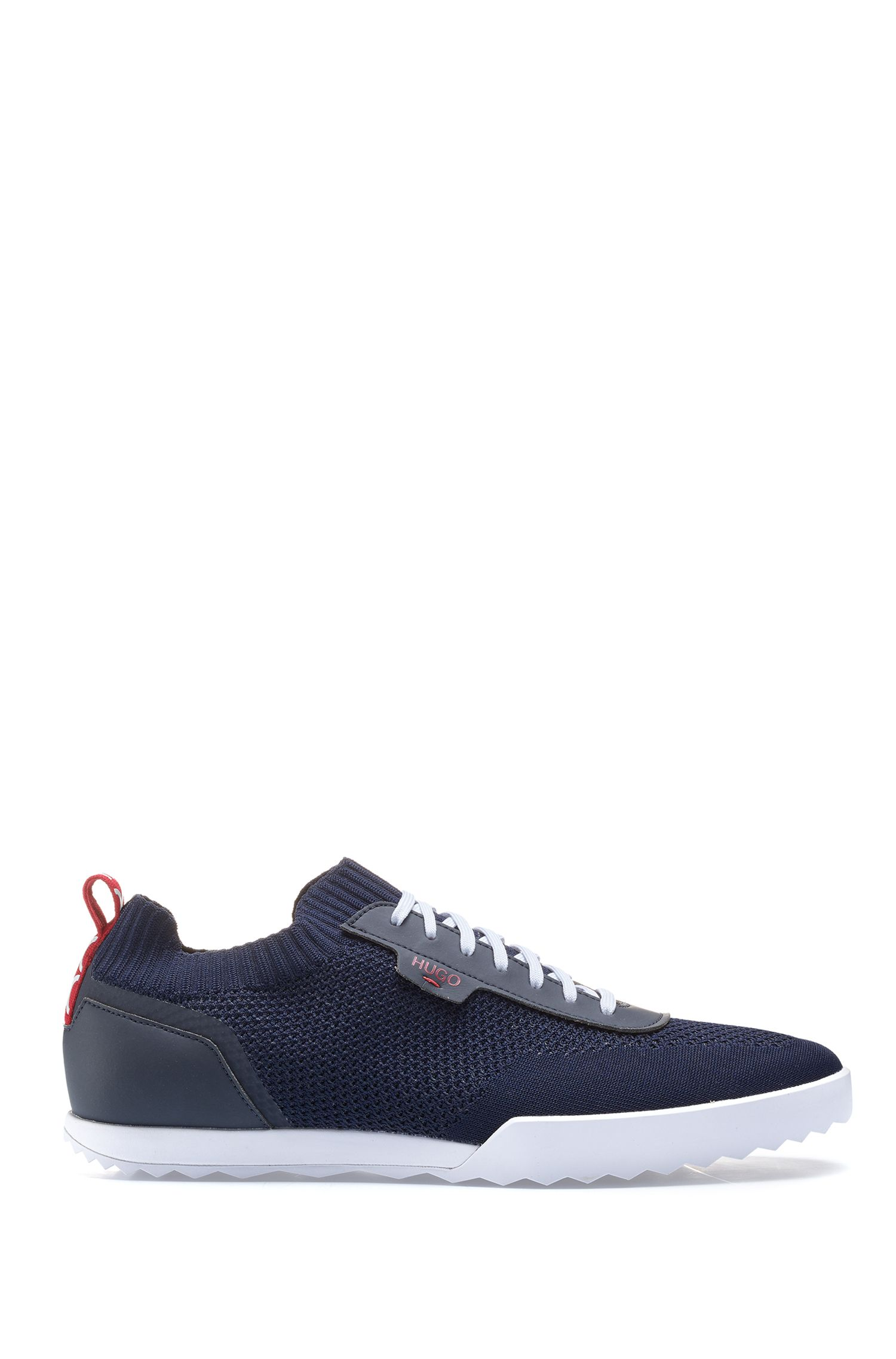 Hugo Boss - Low-profile trainers with laces and knitted sock - 1