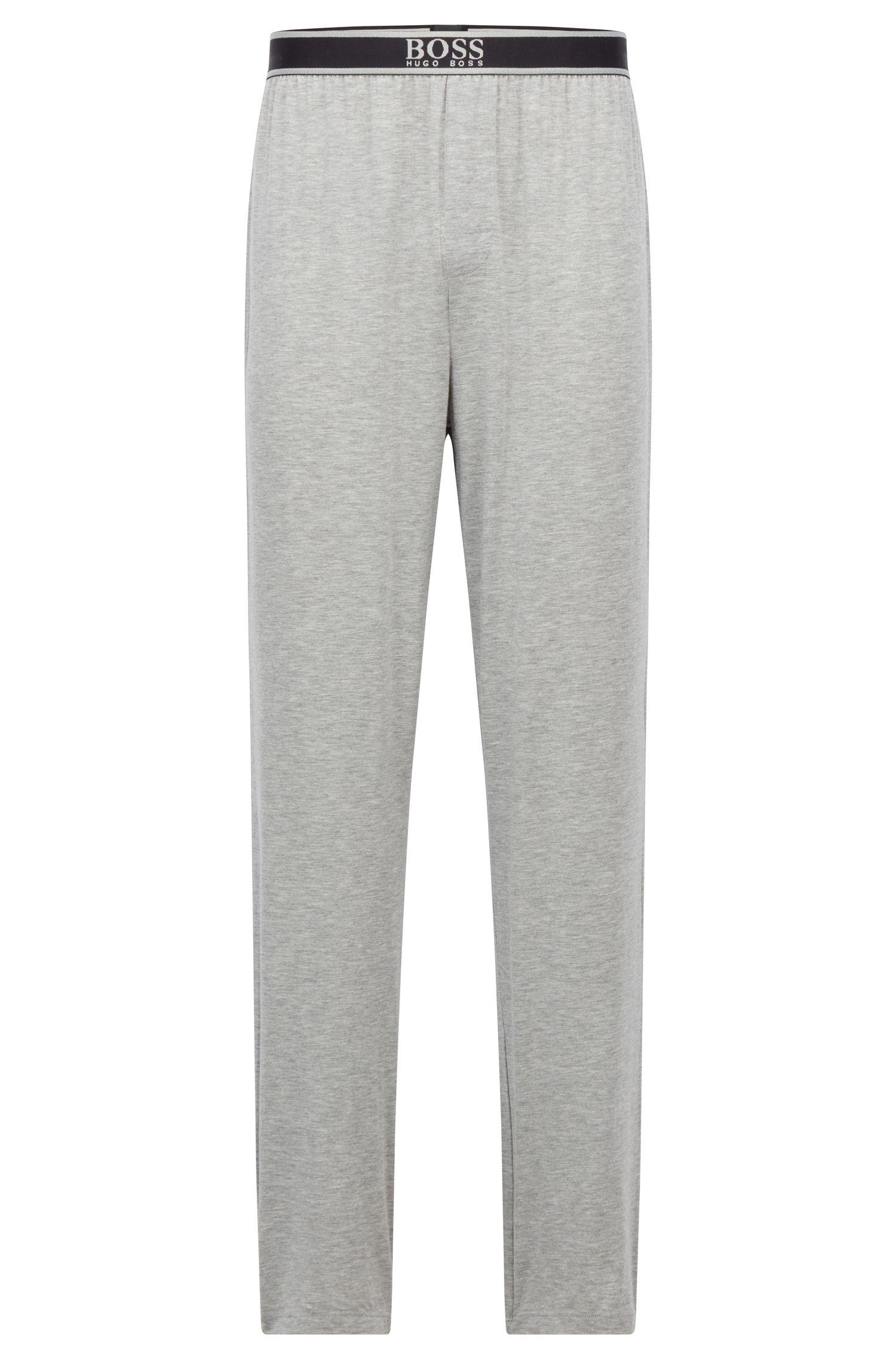 Pantalones de pijama en modal elástico con logo en la cintura, Gris