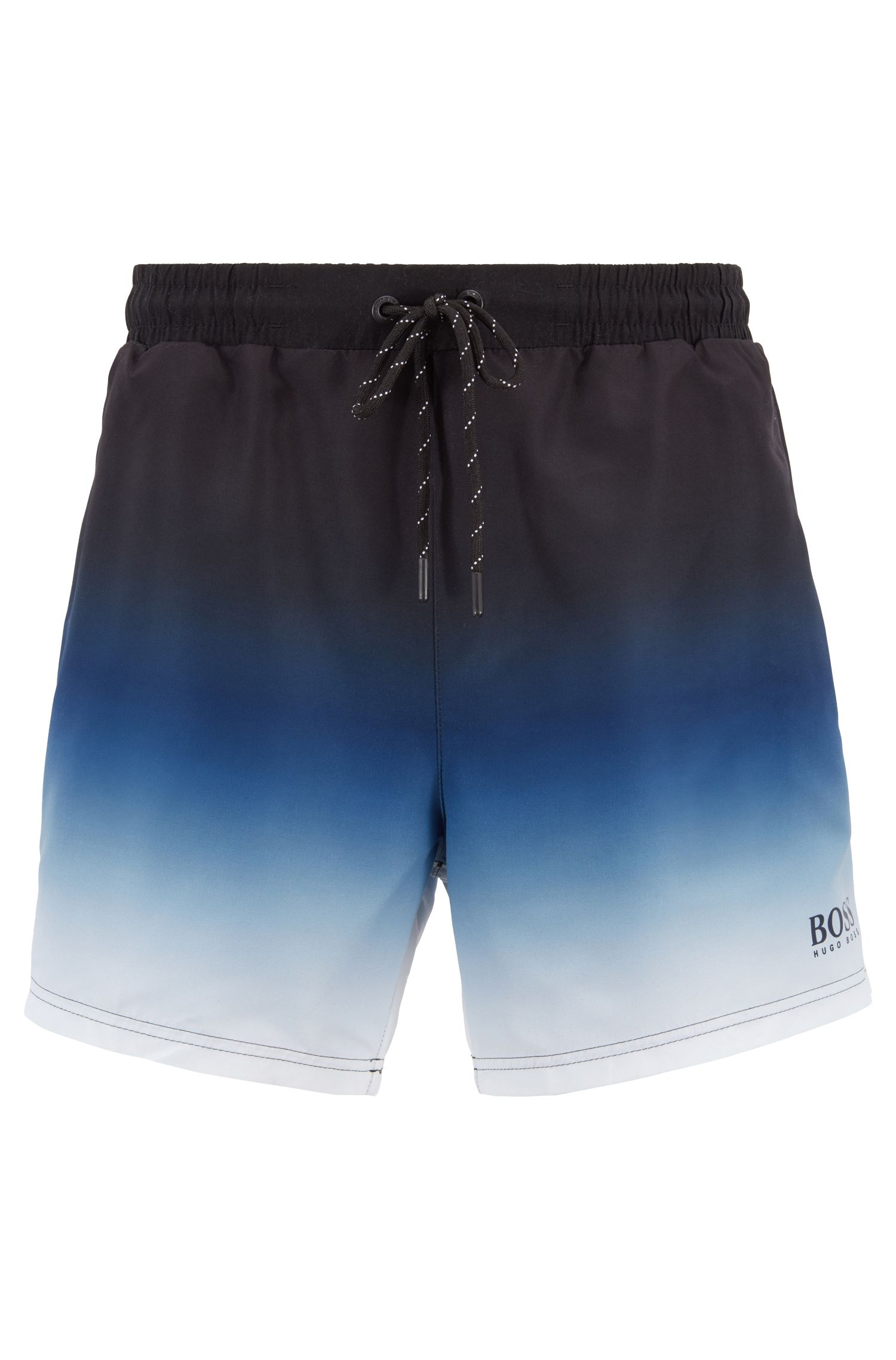 Sneldrogende zwemshort met digitale print, Blauw