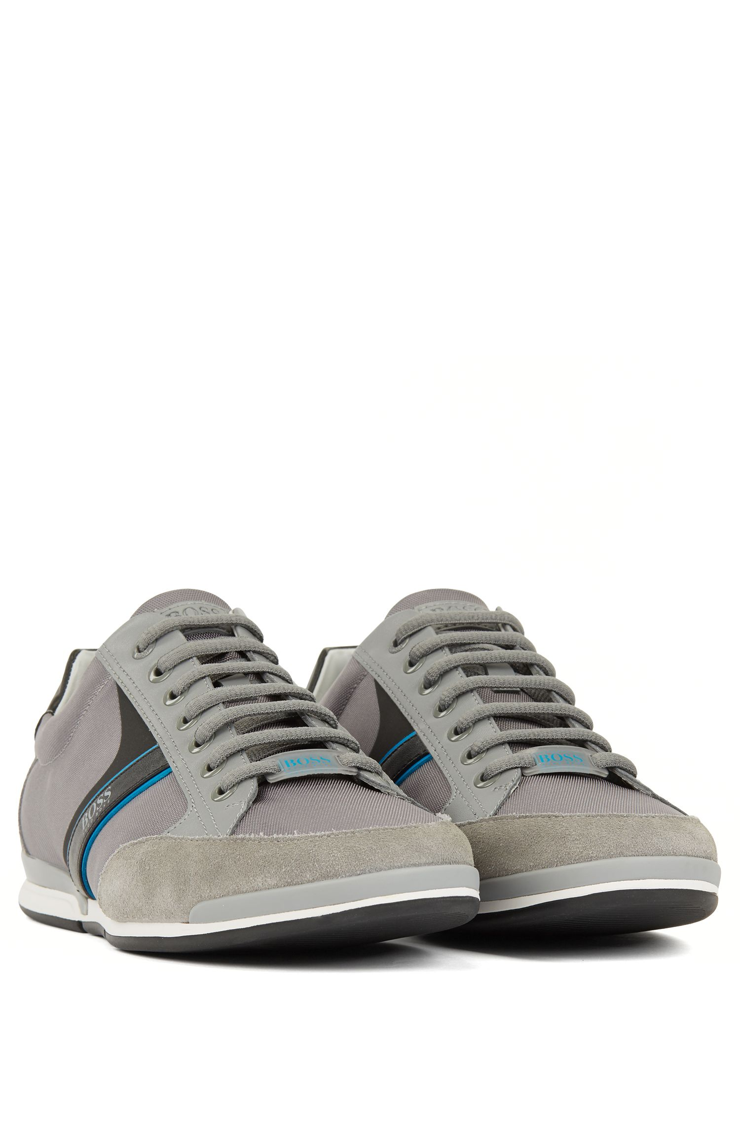 Hugo Boss - Lace-up hybrid trainers with moisture-wicking lining - 2