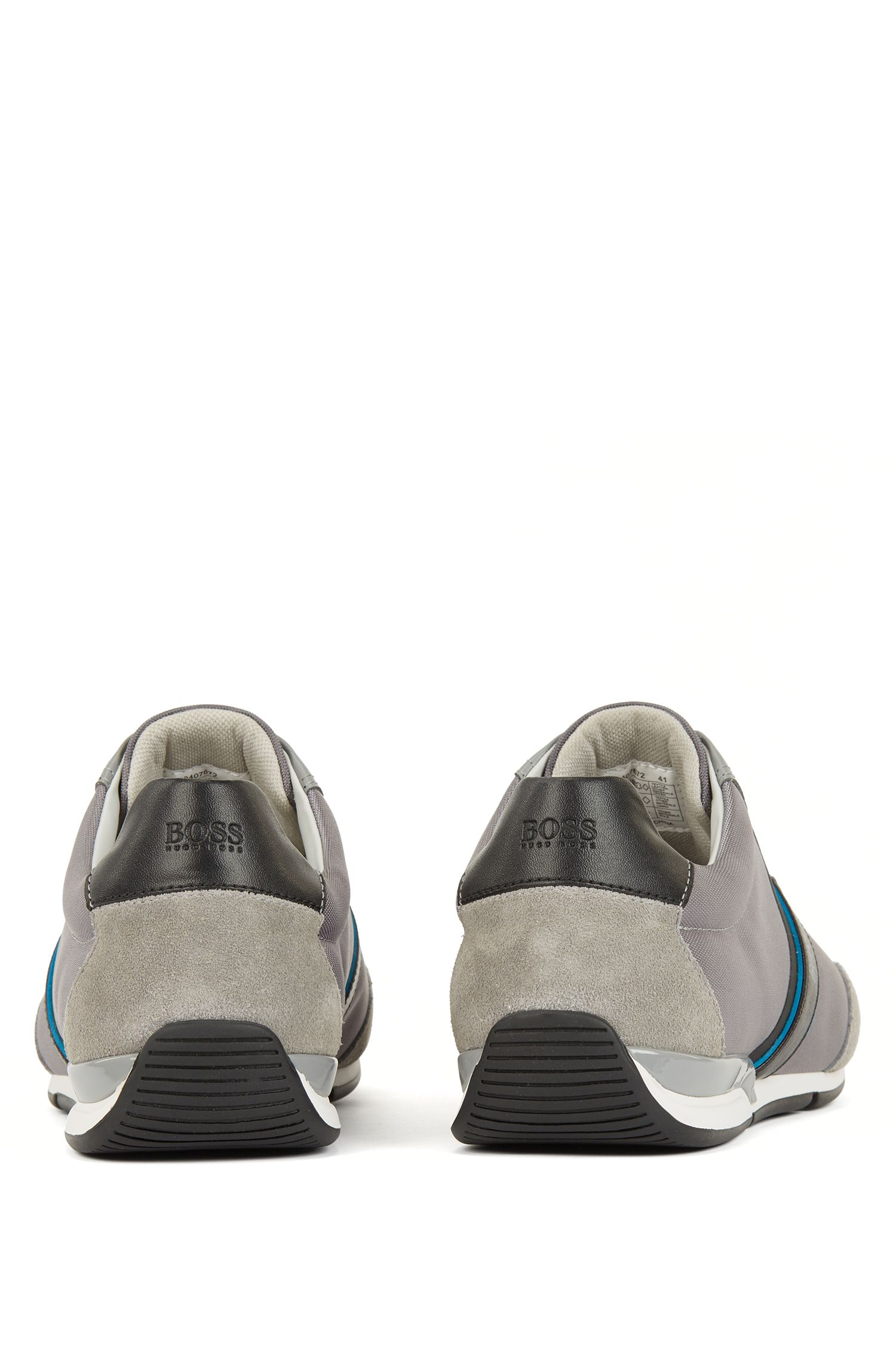 Hugo Boss - Lace-up hybrid trainers with moisture-wicking lining - 5