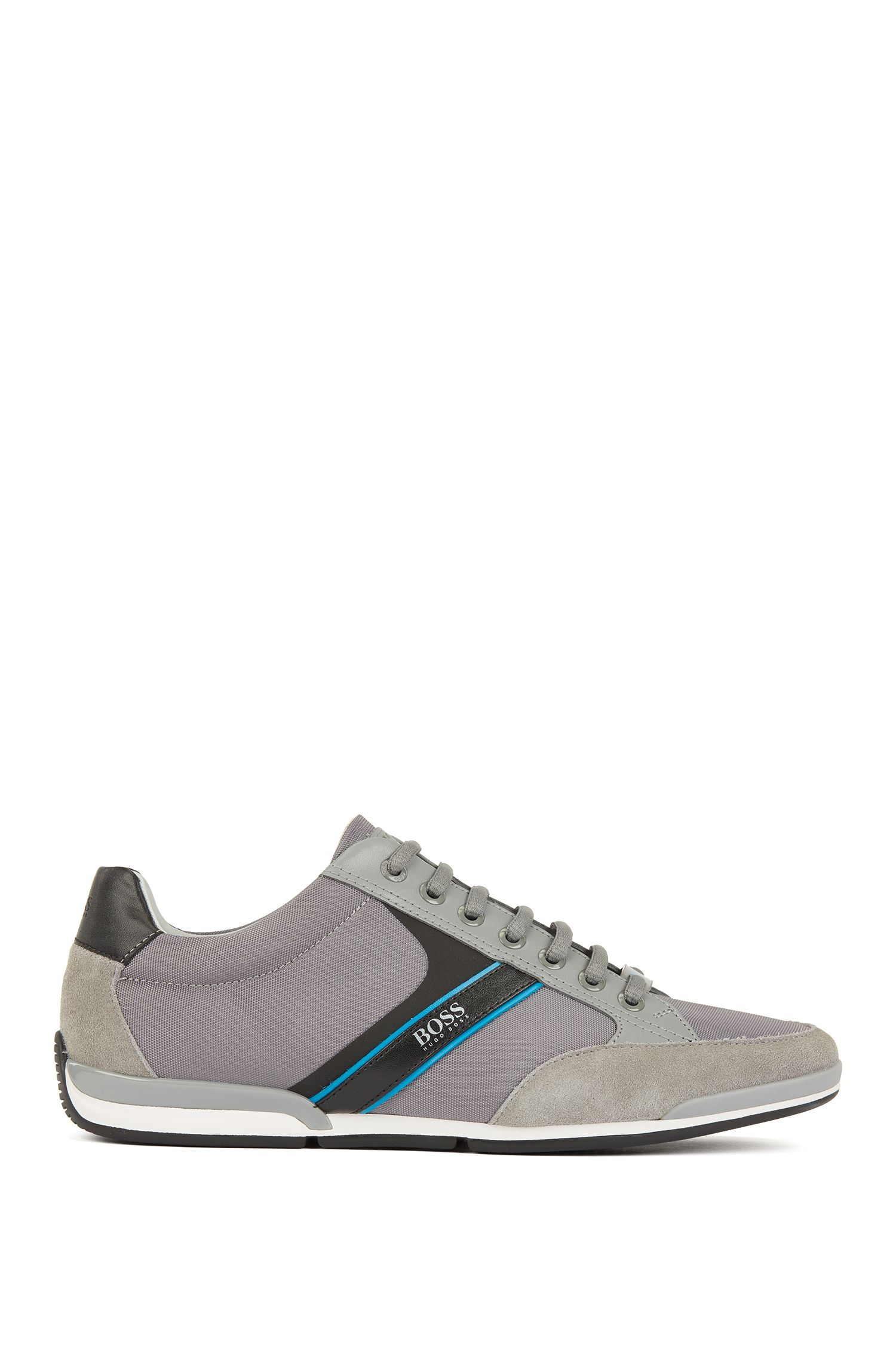 Hugo Boss - Lace-up hybrid trainers with moisture-wicking lining - 1