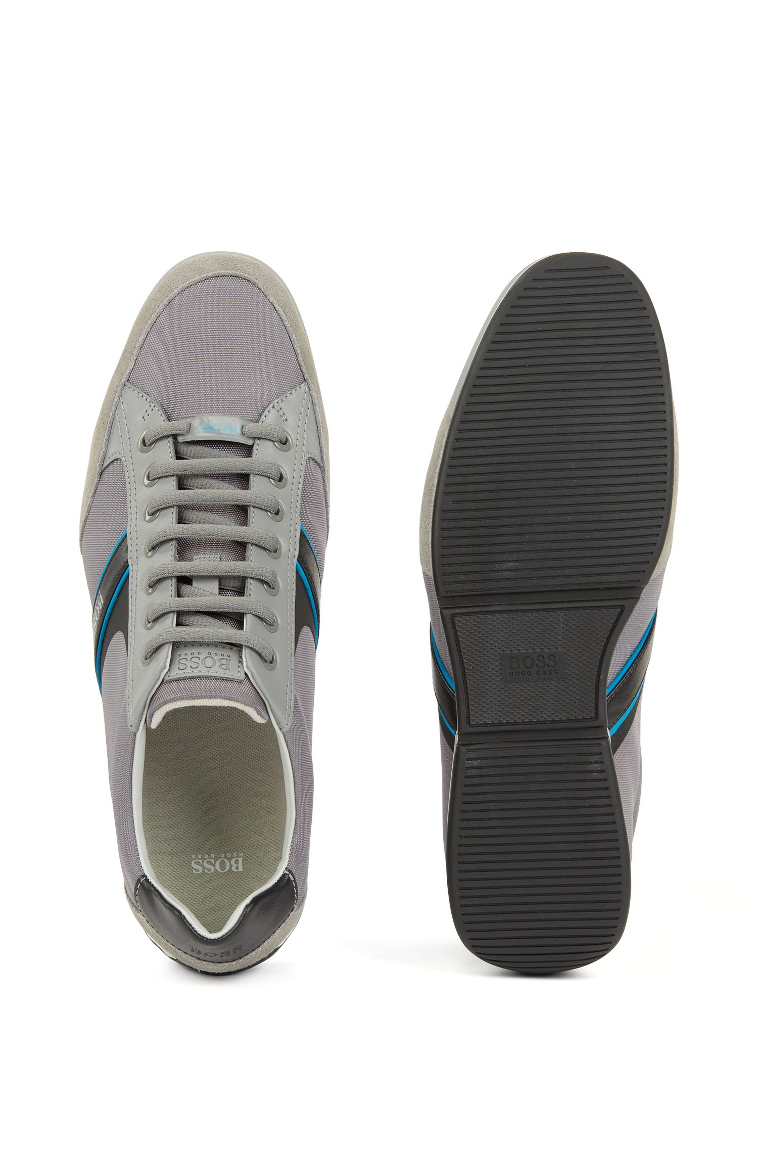 Hugo Boss - Lace-up hybrid trainers with moisture-wicking lining - 4