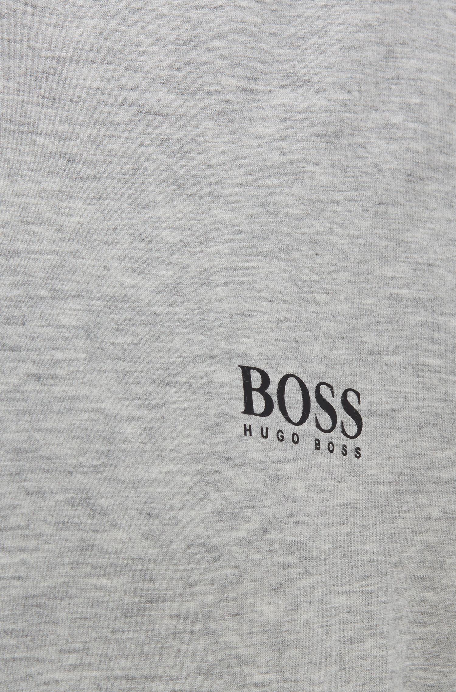 Pyjama-Shirt aus Stretch-Modal mit V-Ausschnitt, Grau
