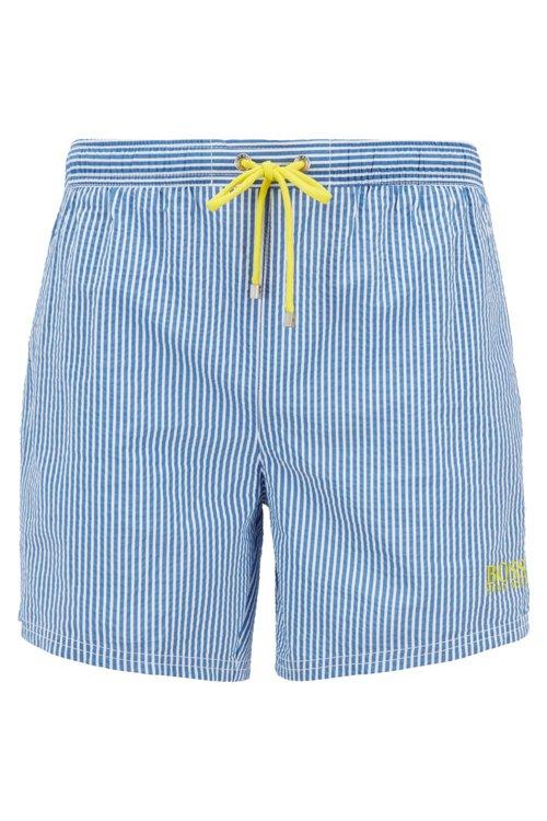 Hugo Boss - Bañador tipo shorts a rayas con un bolsillo interior con cierre por contacto - 1