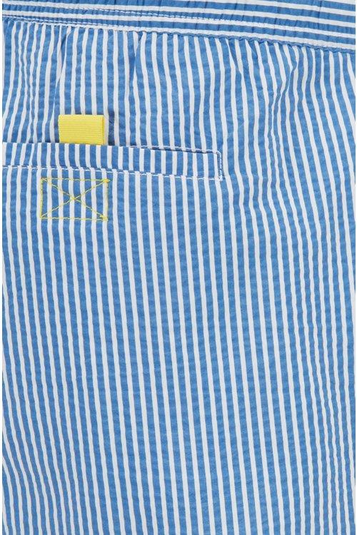 Hugo Boss - Bañador tipo shorts a rayas con un bolsillo interior con cierre por contacto - 2