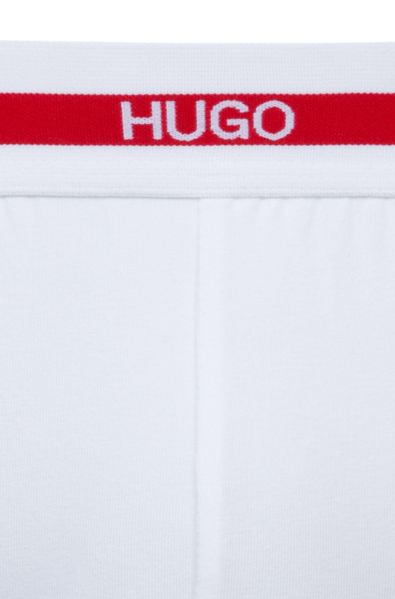 Set van twee slips van katoenen jersey met stretch, Wit