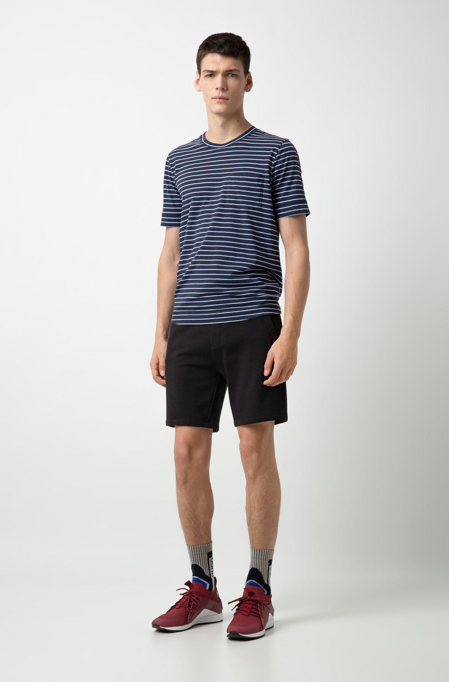 Sneakers stile runner con suola Vibram e calza interna in maglia, Rosso scuro