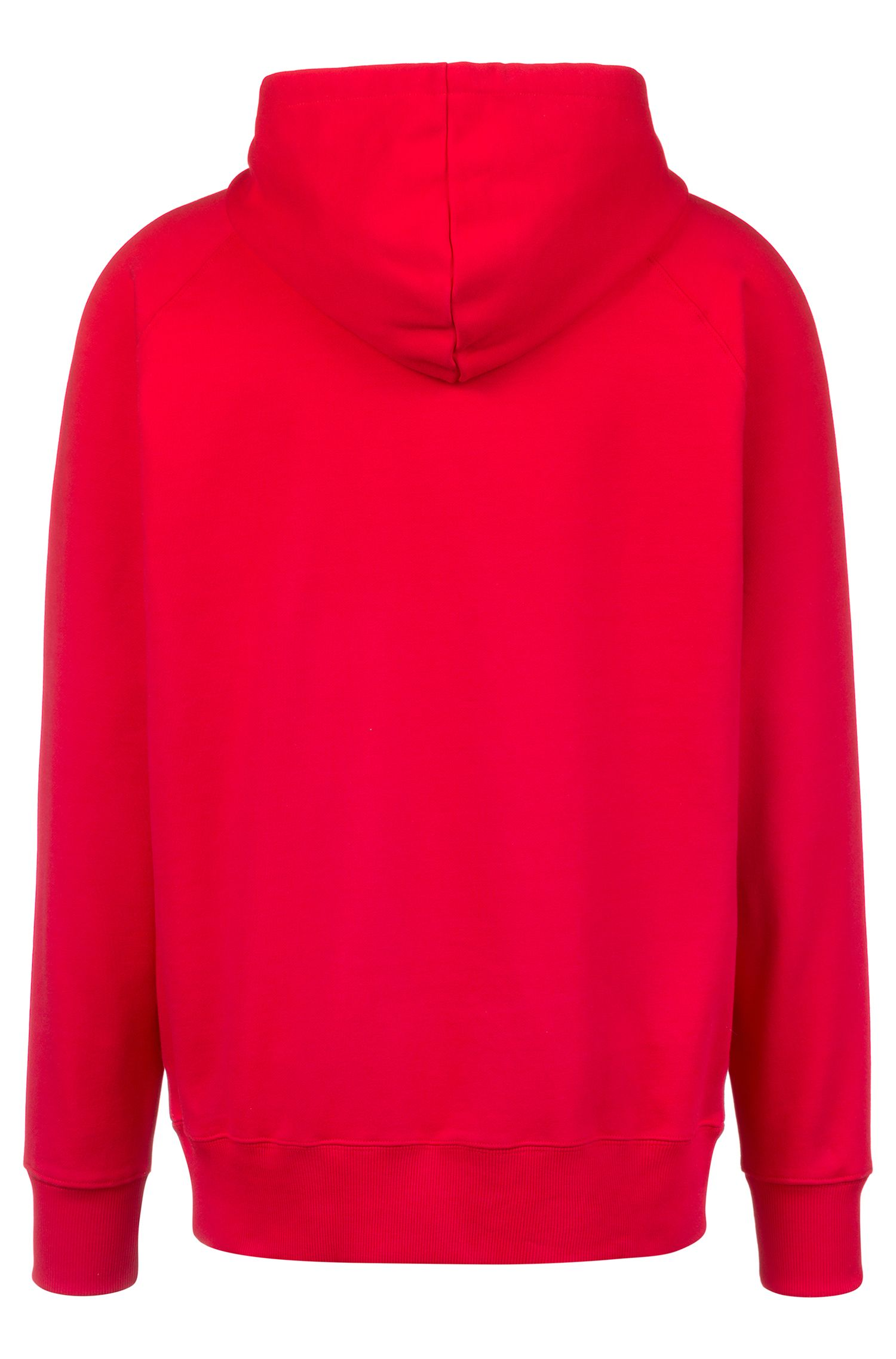 Sweat à capuche mixte Oversized Fit à imprimé emblématique de la collection, Rouge