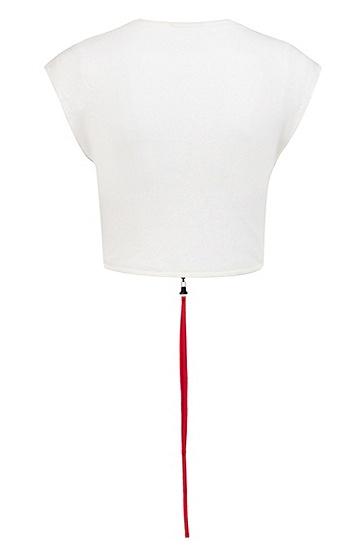 女士休闲商务短袖T恤,  102_天然色