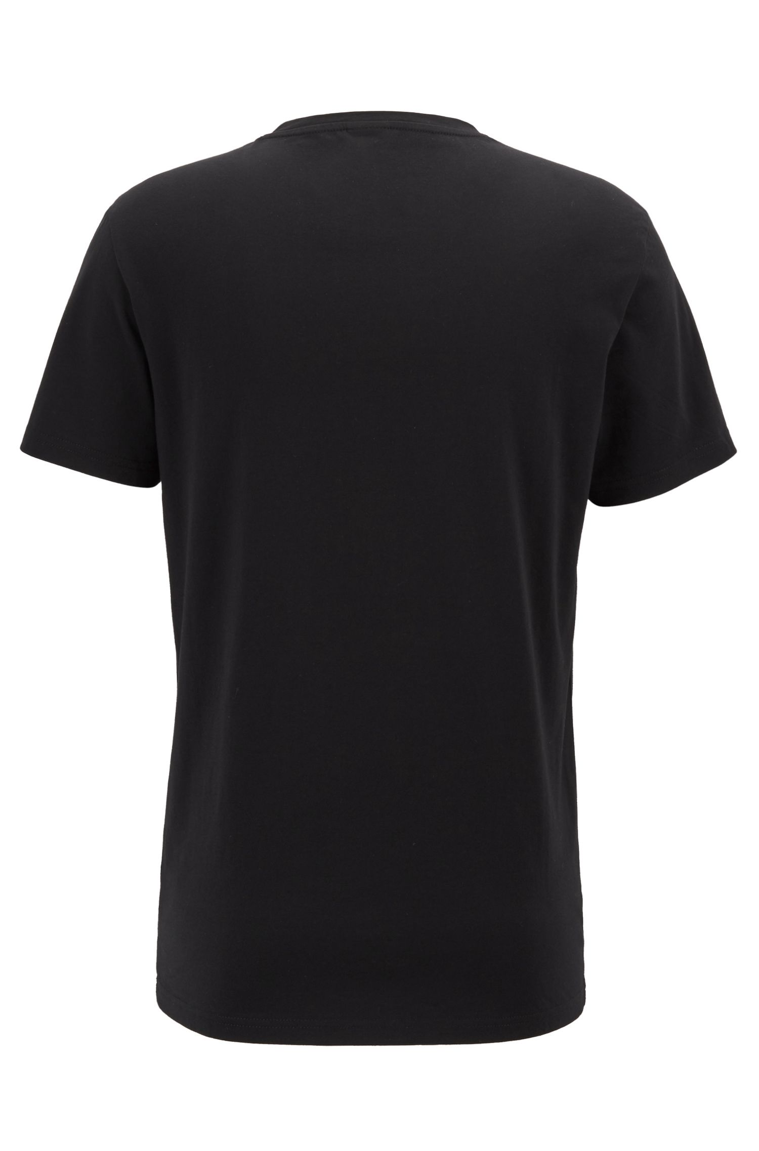 Relaxed-fit UPF 50+ T-shirt in responsibly sourced cotton, Black