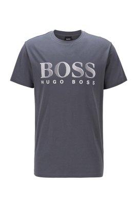 T-Shirt aus Baumwolle mit UV-Schutzfaktor 50+, Dunkelgrau