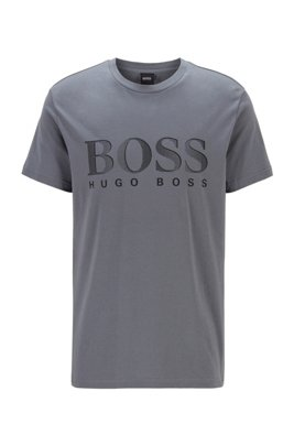 Relaxed-fit UPF 50+ T-shirt in cotton, Light Grey