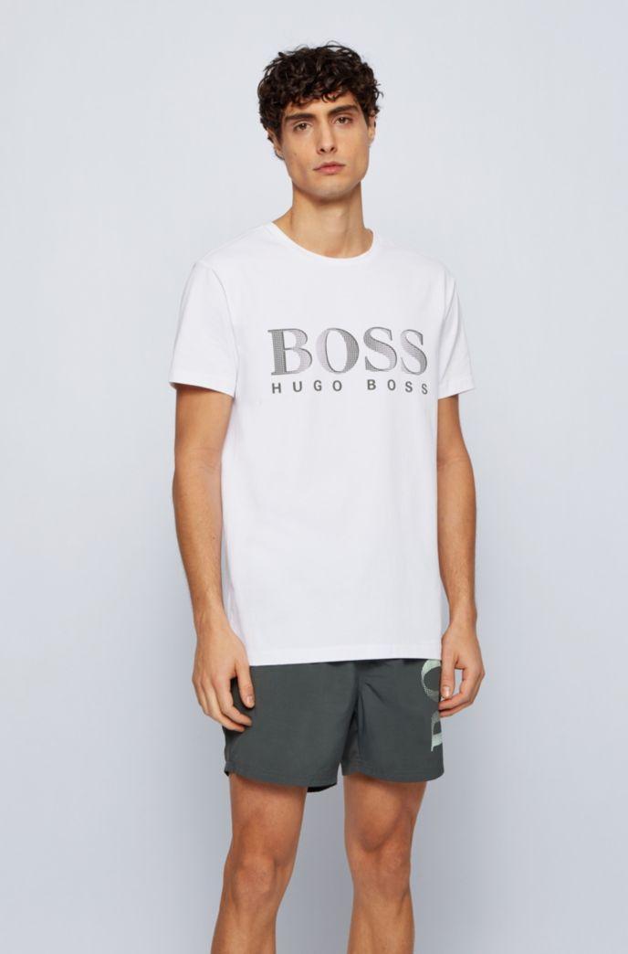 Relaxed-fit T-shirt van katoen met UPF 50+-finish