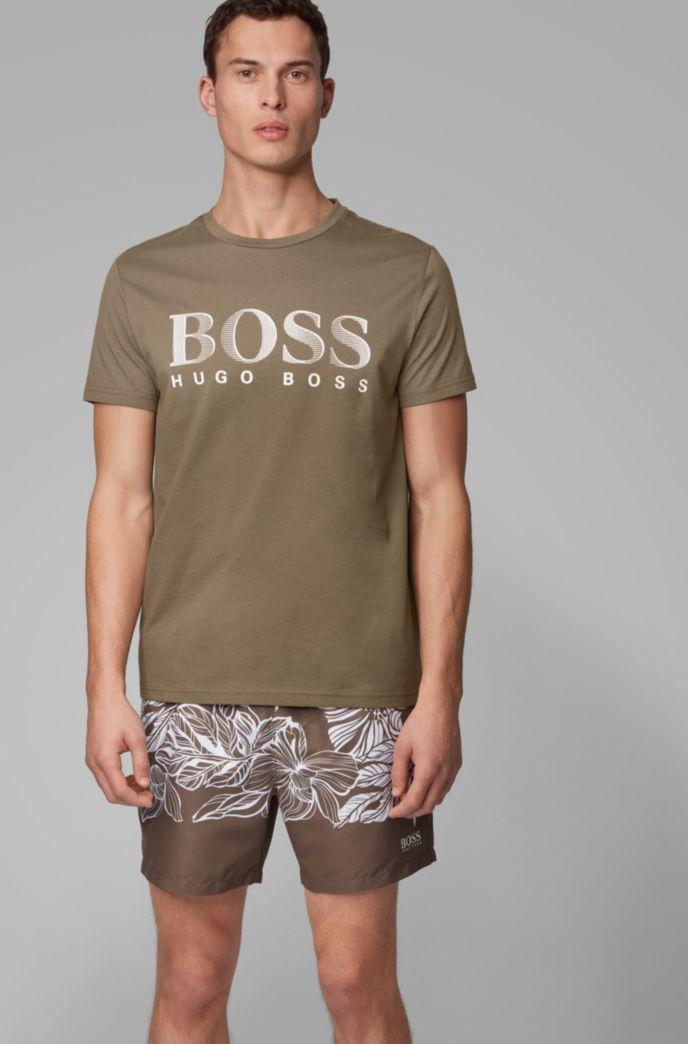 Relaxed-fit T-shirt van verantwoordelijk verkregen katoen met UPF 50+-finish