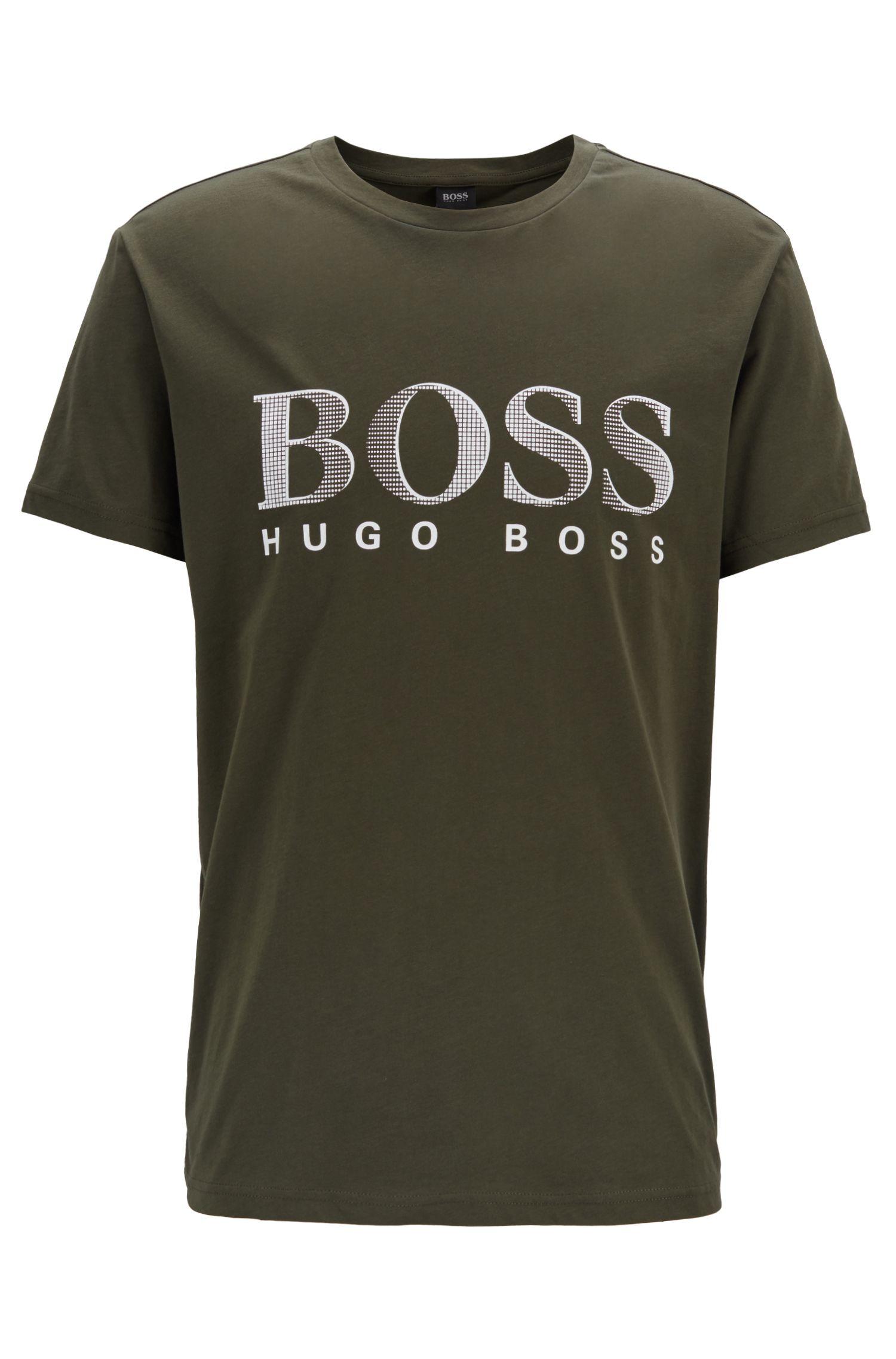 T-Shirt aus nachhaltiger Baumwolle mit UPF50+, Dunkelgrün