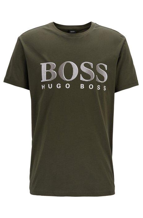Camiseta relaxed fit UPF 50+ de algodón obtenido de manera responsable, Verde oscuro