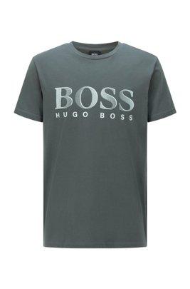 T-Shirt aus Baumwolle mit UV-Schutzfaktor 50+, Dunkelgrün