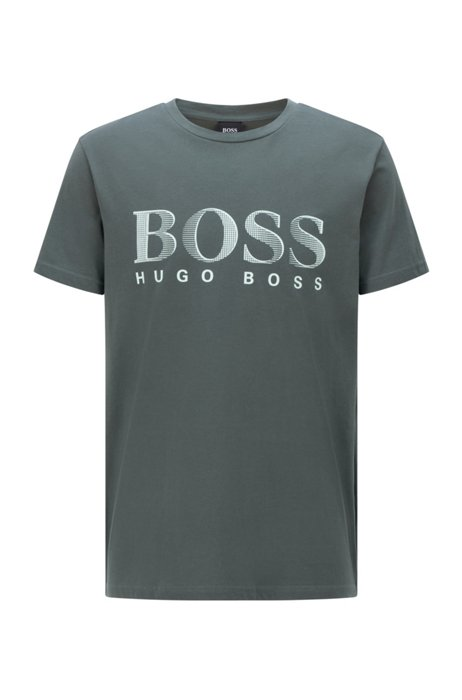 Relaxed-fit T-shirt in UPF 50+ cotton with logo, Dark Green