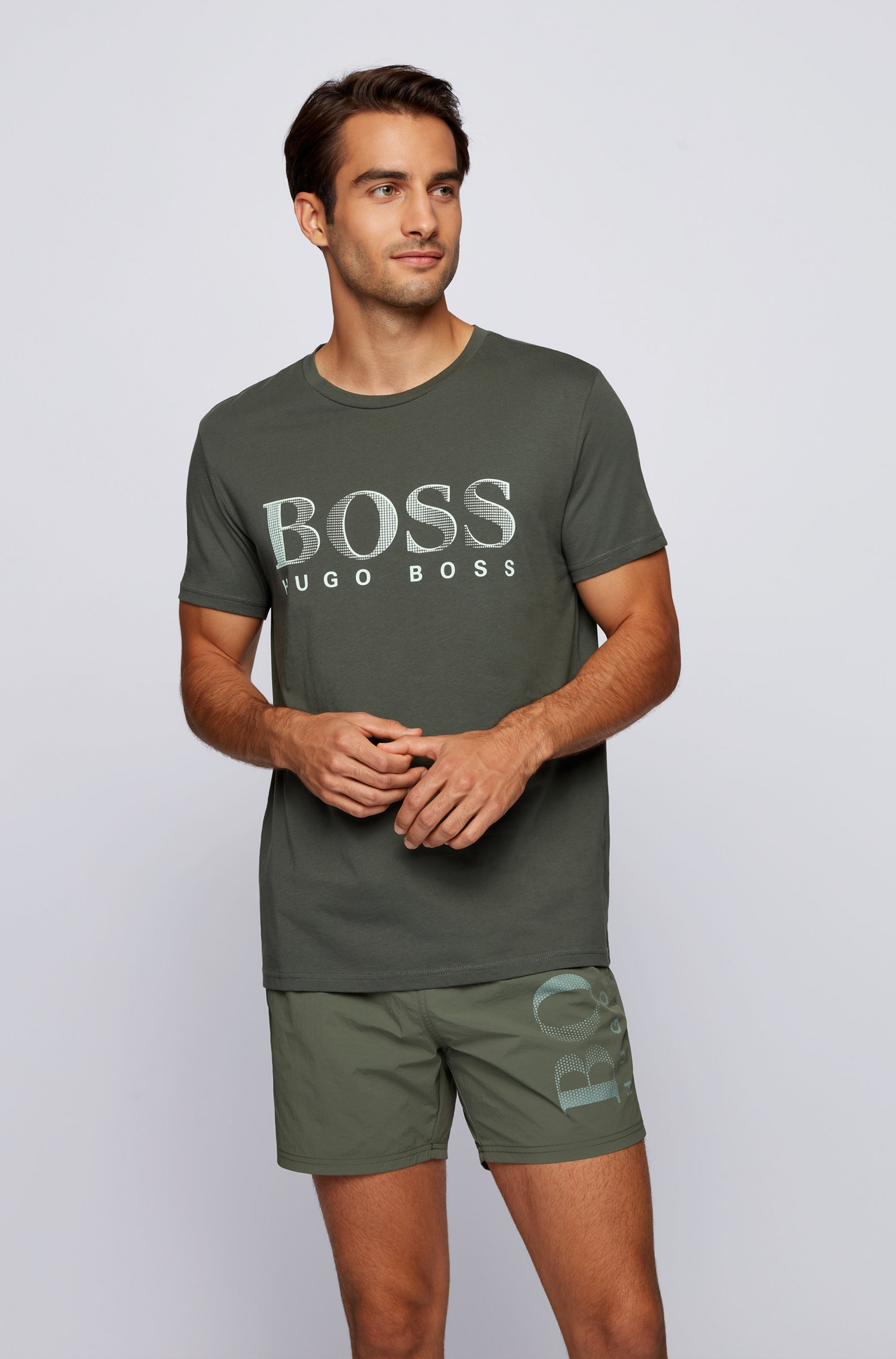 T-Shirt aus Baumwolle mit UV-Schutzfaktor 50+