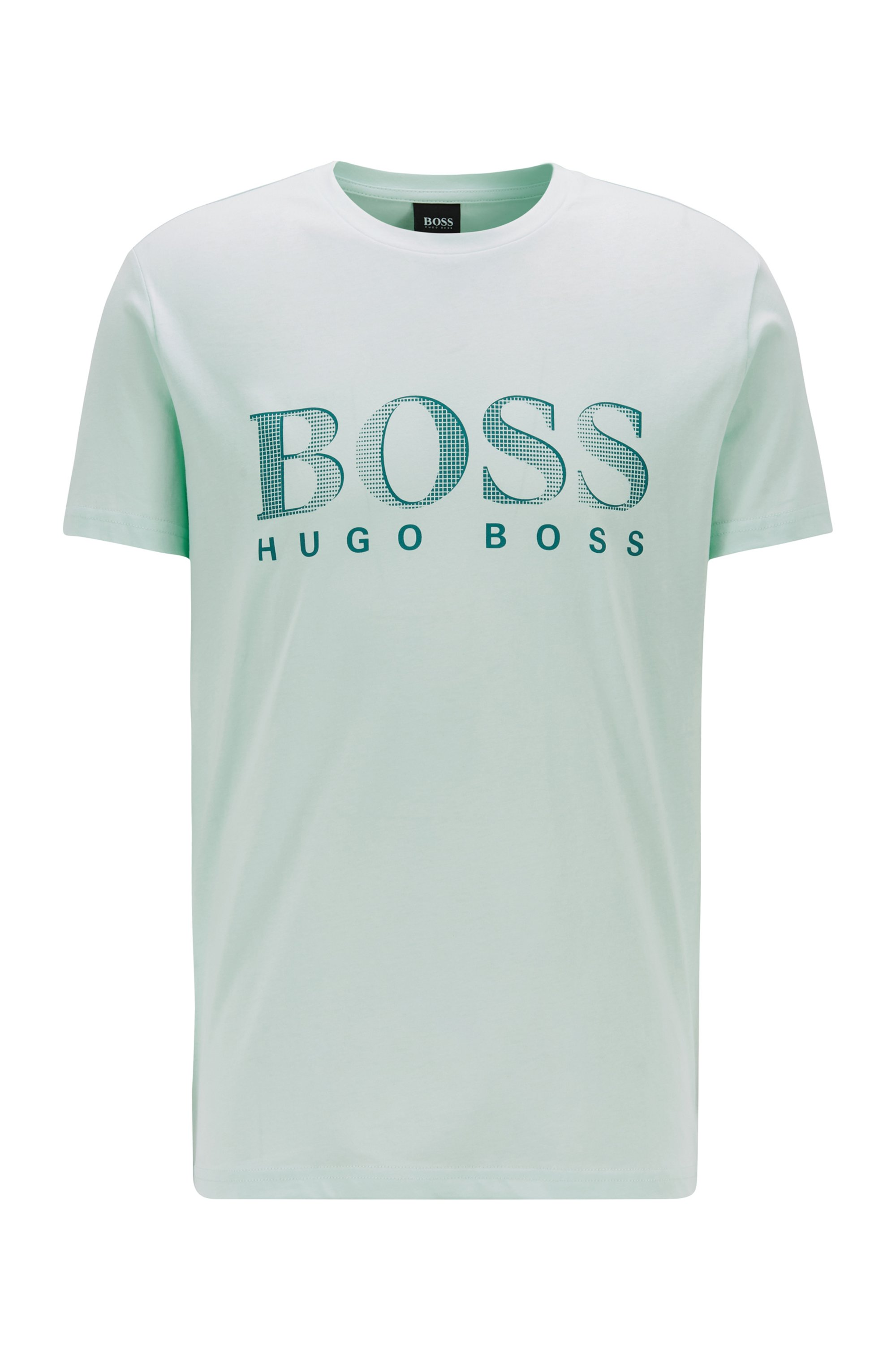 Relaxed-fit T-shirt in UPF 50+ cotton with logo, Light Green