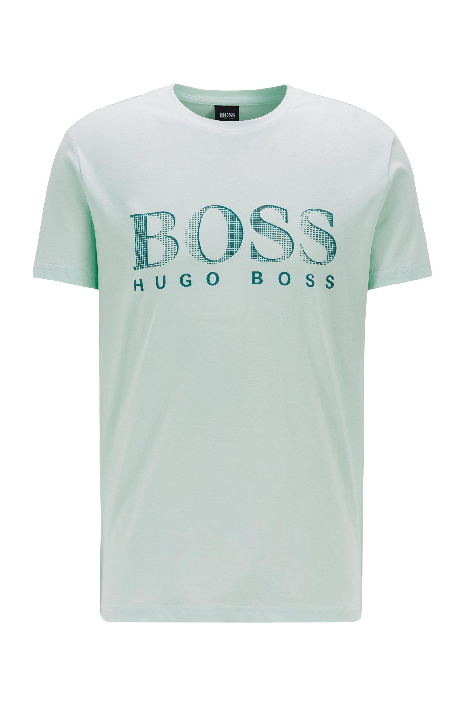 T-Shirt aus Baumwolle mit UV-Schutzfaktor 50+, Hellgrün