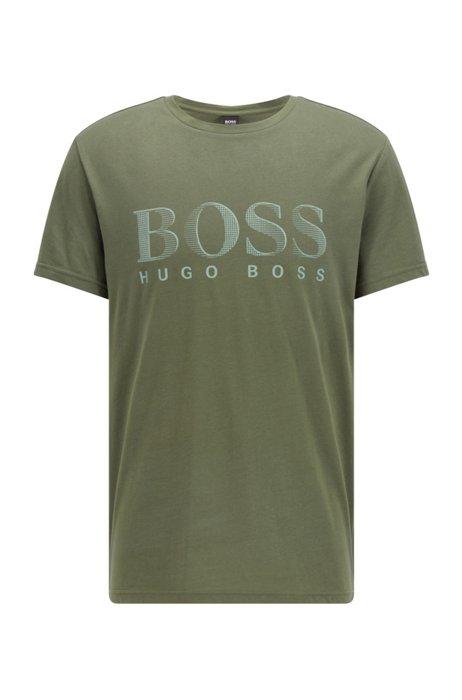 Relaxed-Fit T-Shirt aus Baumwolle mit UV-Schutz LSF 50+ und Logo, Grün