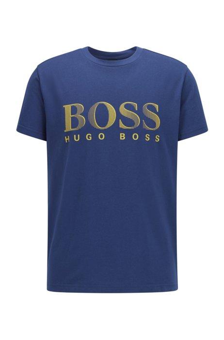 Relaxed-Fit T-Shirt aus Baumwolle mit UV-Schutz LSF 50+ und Logo, Dunkelblau