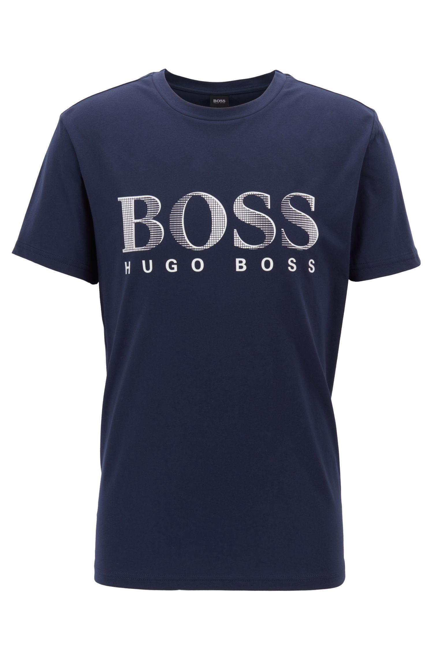 T-shirt Relaxed Fit UPF50+ en coton de source responsable, Bleu foncé