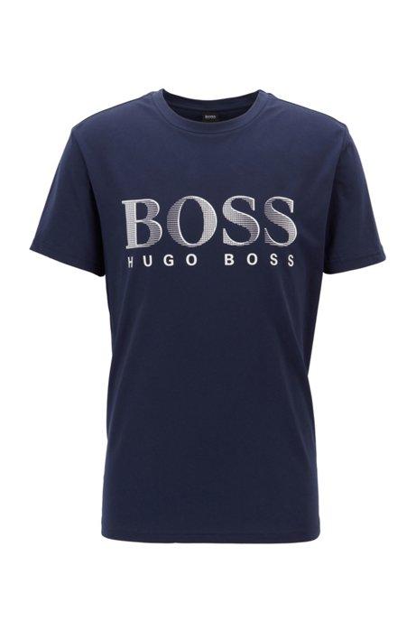 T-shirt relaxed fit con UPF 50+ in cotone prodotto in modo responsabile, Blu scuro