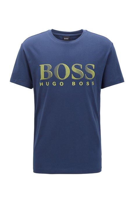Relaxed-fit T-shirt van verantwoordelijk verkregen katoen met UPF 50+-finish, Donkerblauw