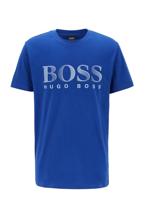 Relaxed-fit T-shirt in UPF 50+ cotton with logo, Blue
