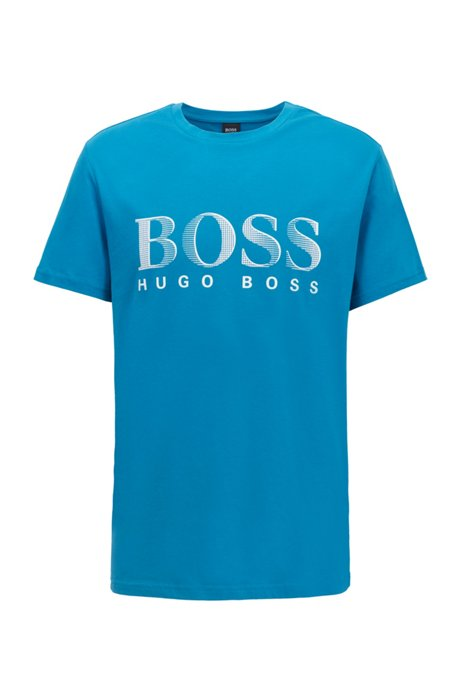 T-shirt relaxed fit con UPF 50+ in cotone prodotto in modo responsabile, Blu