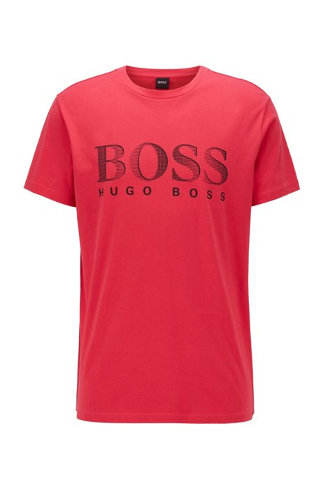 Relaxed-fit T-shirt in UPF 50+ cotton with logo, Pink