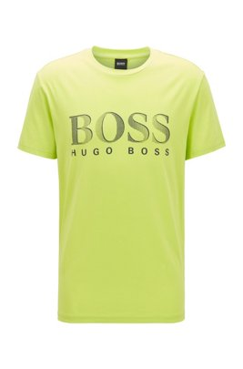 T-shirt relaxed fit con UPF 50+ in cotone, Giallo