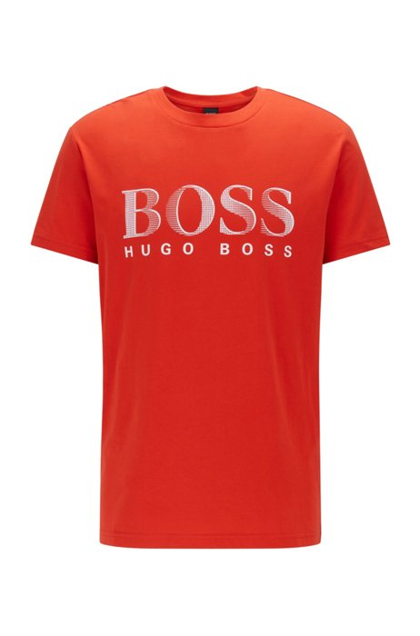 Relaxed-fit T-shirt in UPF 50+ cotton with logo, Orange