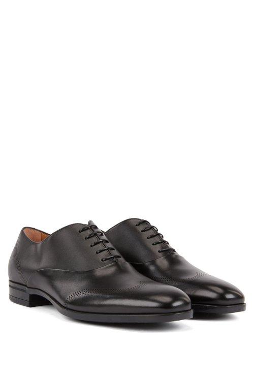 Hugo Boss - Oxford-Schuhe aus Leder mit gelaserten Details - 2