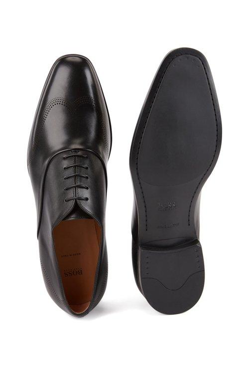 Hugo Boss - Oxford-Schuhe aus Leder mit gelaserten Details - 4