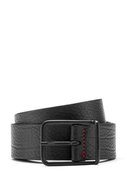 Hugo Boss - In Italien gefertigter Gürtel aus geprägtem Leder mit charakteristischen Naht-Details - 1