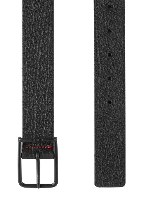 Hugo Boss - In Italien gefertigter Gürtel aus geprägtem Leder mit charakteristischen Naht-Details - 3