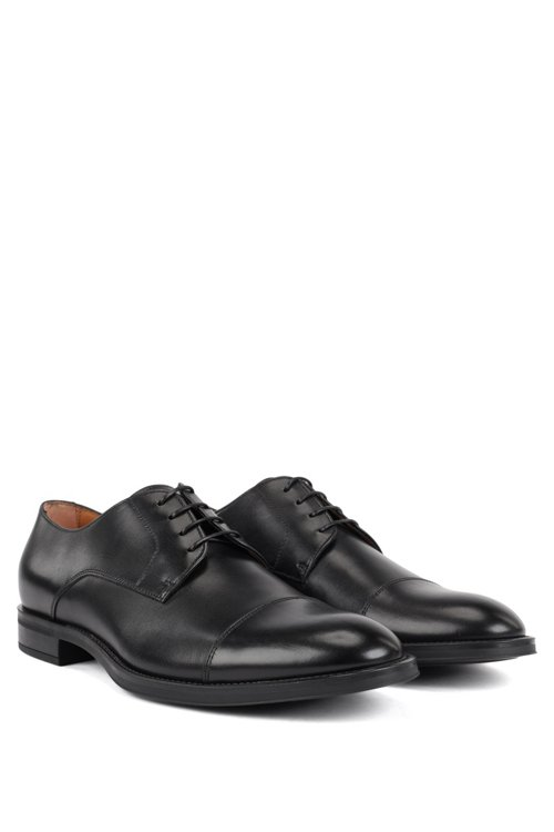 Hugo Boss - Derby shoes in burnished calf leather - 2